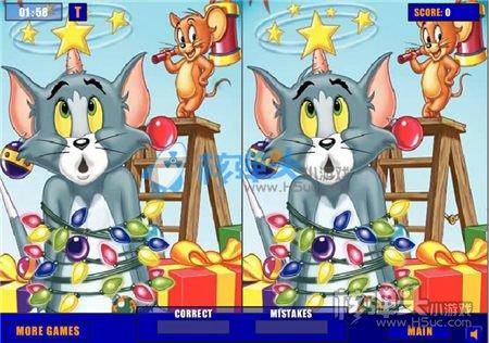 猫和老鼠去找茬拼图小游戏 猫和老鼠可爱游戏