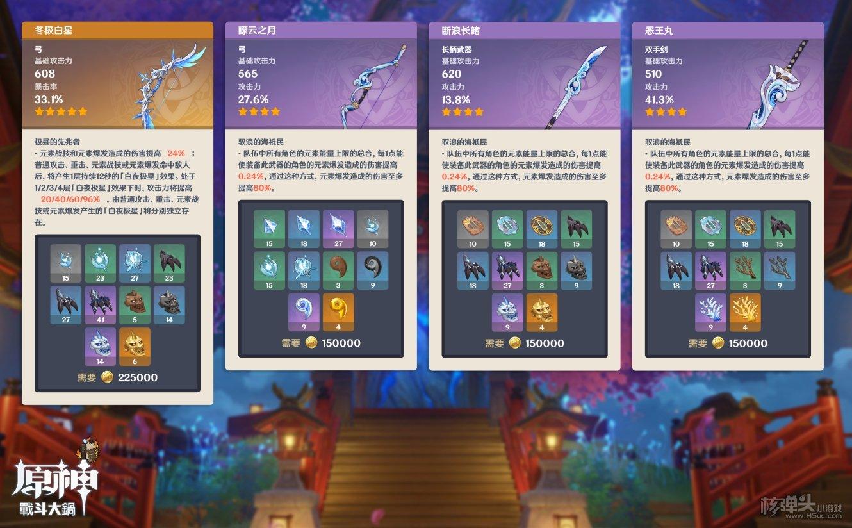 原神2.2版本新增武器属性汇总 2.2有哪些新武器